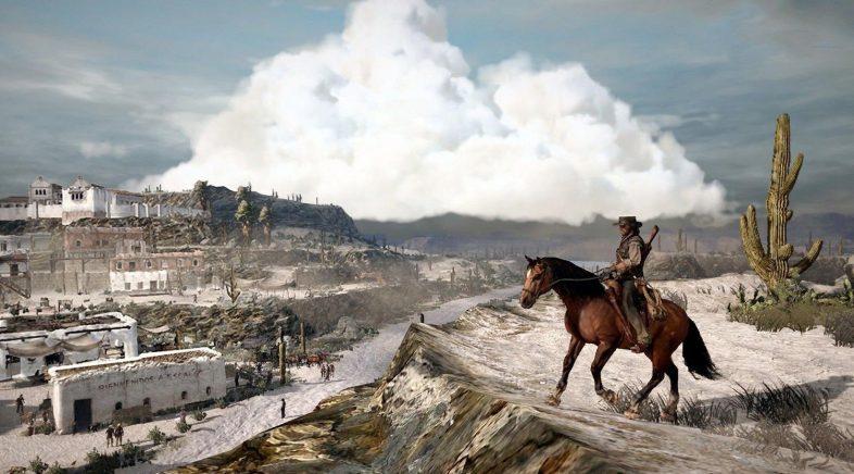 Red Dead Redemption 2 cabalga cara o Olimpo