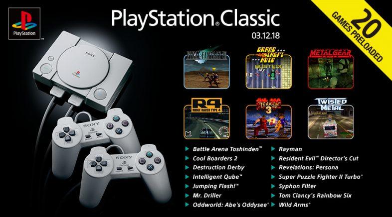 Sony anuncia os vinte xogos da PlayStation Classic