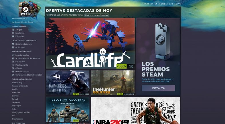 Steam deixa de dar soporte a Windows XP e Vista