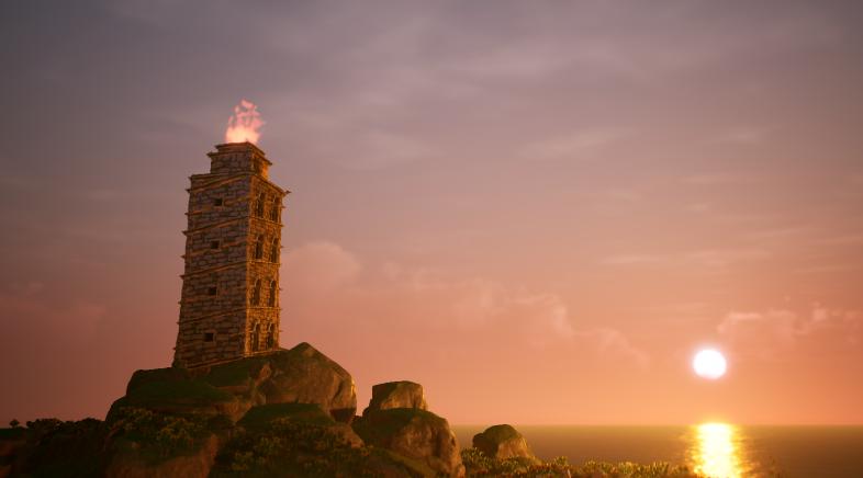 A Torre de Hércules de Gato Studio iluminará o congreso Mundos Dixitais