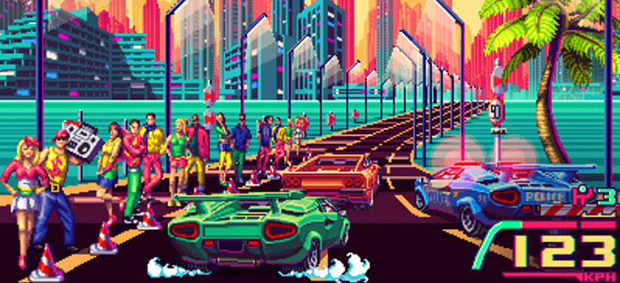80's Overdrive, o xogo de condución retro, chegará a Nintendo Switch