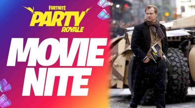 Fortnite prepárase para a Noite de Pelis, na que se emitirán películas de Christopher Nolan