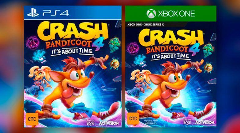 Fíltrase Crash Bandicoot 4: It's About Time para PS4 e Xbox One