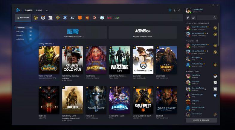 Blizzard renova e moderniza Battle.net, a súa lanzadeira de xogos